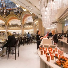 Brunch no Galeries Lafayette em Paris